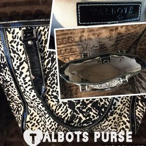 Talbots used leopard good size tote inside marking